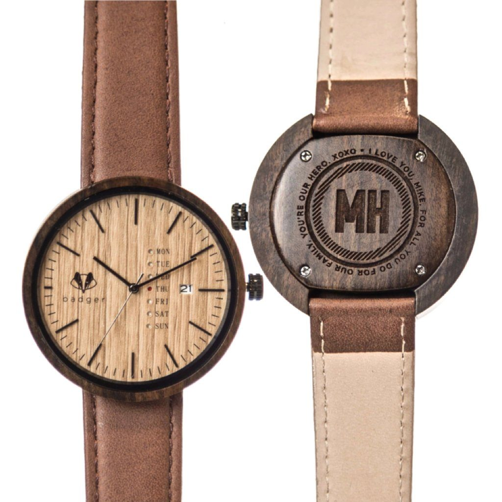 Sandalwood Modern Watch - Message