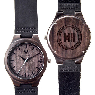 Sandalwood watch, customized watches, initials engraved wooden watches, engraved watches, customized gifts, personalized gift for him, personalized gift, Customized gift