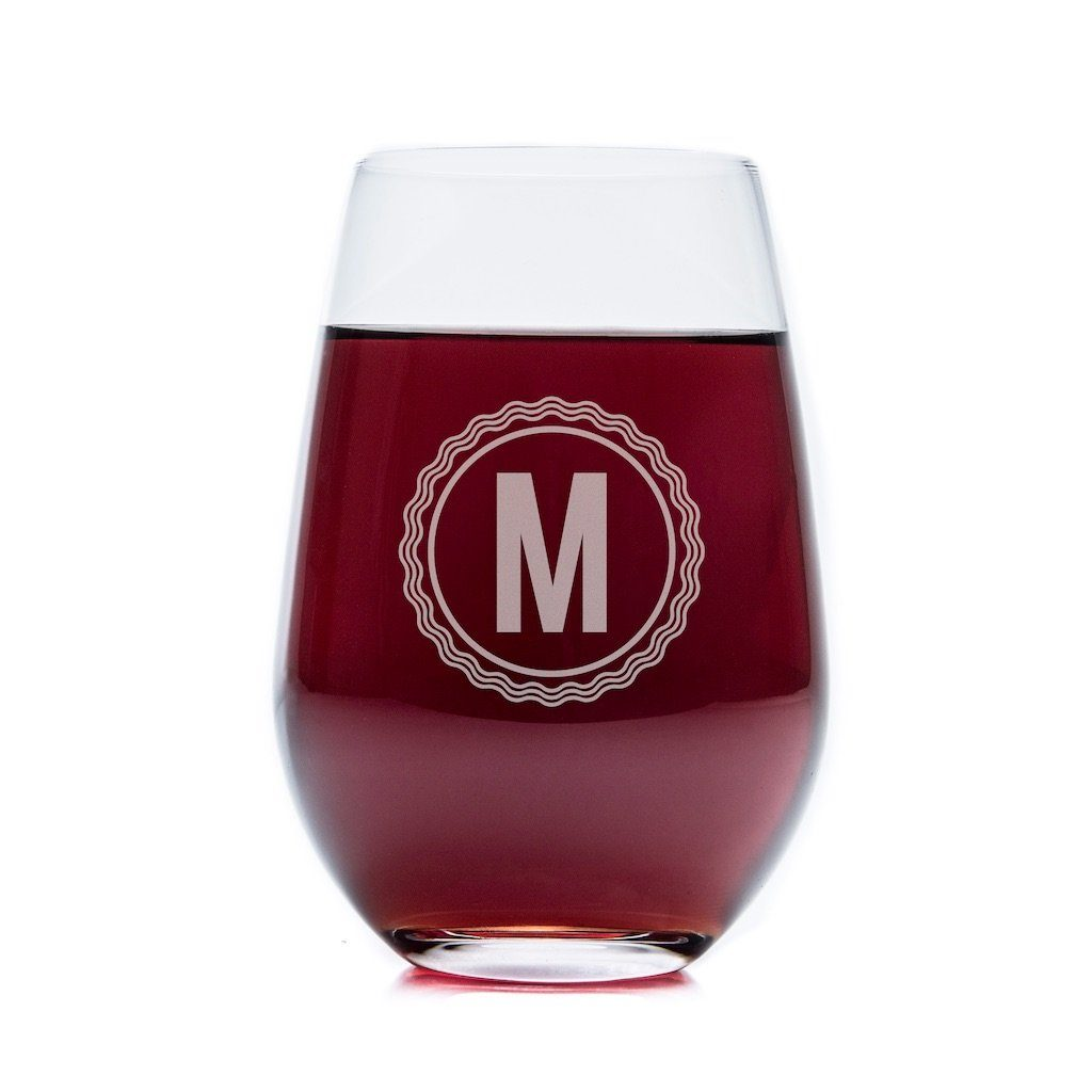 Stemless Wine Glasses - Set of 4: Medalist