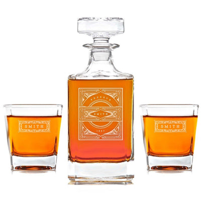 whiskey decanter, vintage whiskey decanter, customized decanters, engraved decanters, buy whiskey decanter online