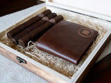 Personalized Cigar Box - Cigar Box: Circle