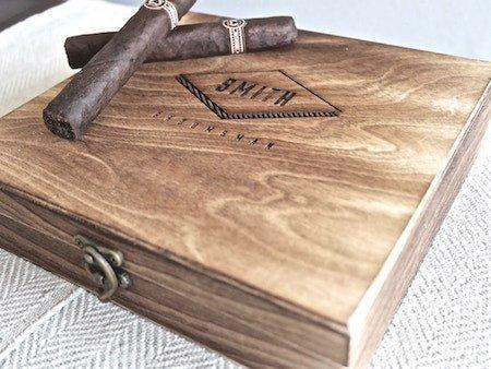 personalized cigar box | cigar box | personalized gifts | wooden box | personalized gifts for men | gifts for groomsmen