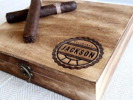 Personalized Cigar Box - Cigar Box: Medalist