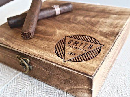 Personalized Cigar Box - Cigar Box: Modern