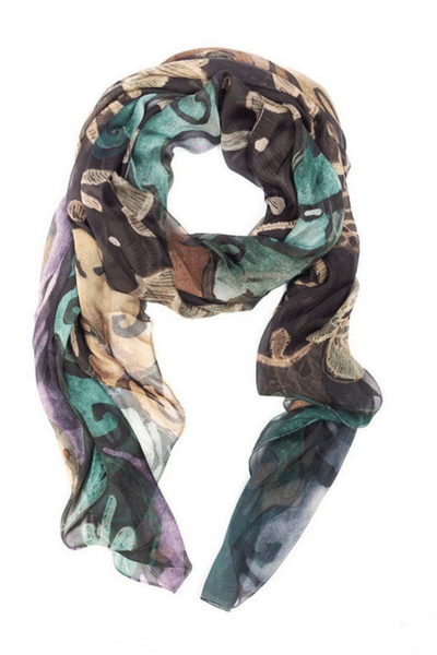Painted Lace Scarf by The Artist Label currently available from Rawspice Boutique.