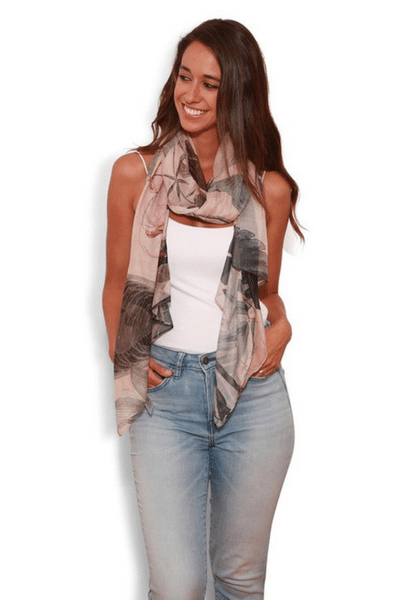 Radio Botanist Scarf by The Artist Label currently available from Rawspice Boutique.