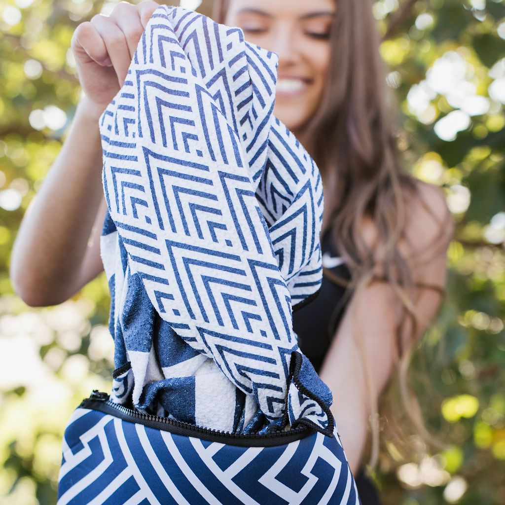 The Surfers Navy The Ultimate Beach Towel - by Sky Gazer currently available at Rawspice Boutique.