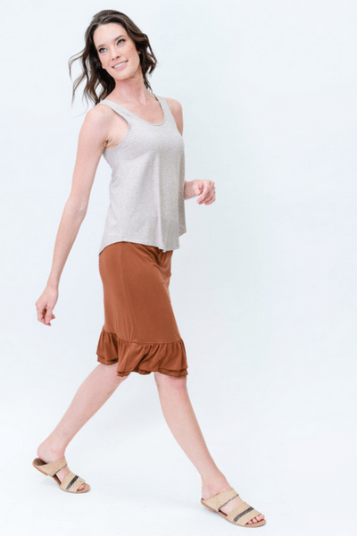 Linen Ellie Singlet - by Lou Lou Australia currently available from Rawspice Boutique.