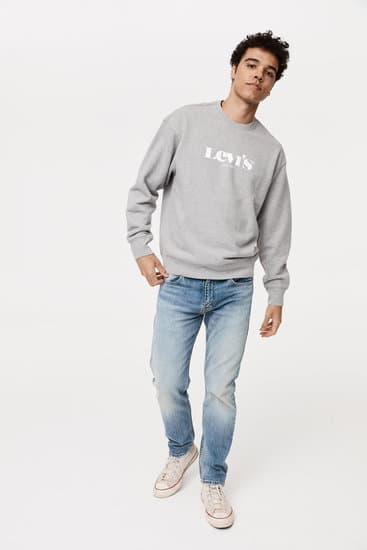 Relaxed Graphic Crewneck Sweatshirt by Levis Currently available from Rawspice Boutique.