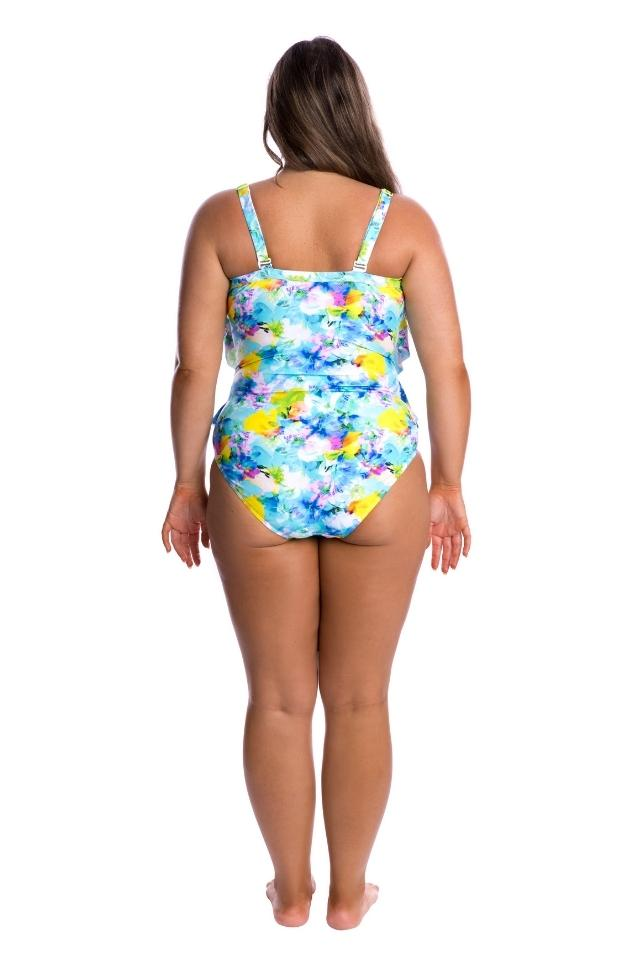 Tutti Fruitti 3 Tier One Piece by Capriosca Swimwear currently available from Rawspice Boutique.