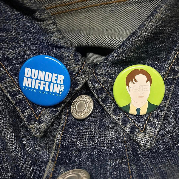 The Office Buttons - SleepyMountain