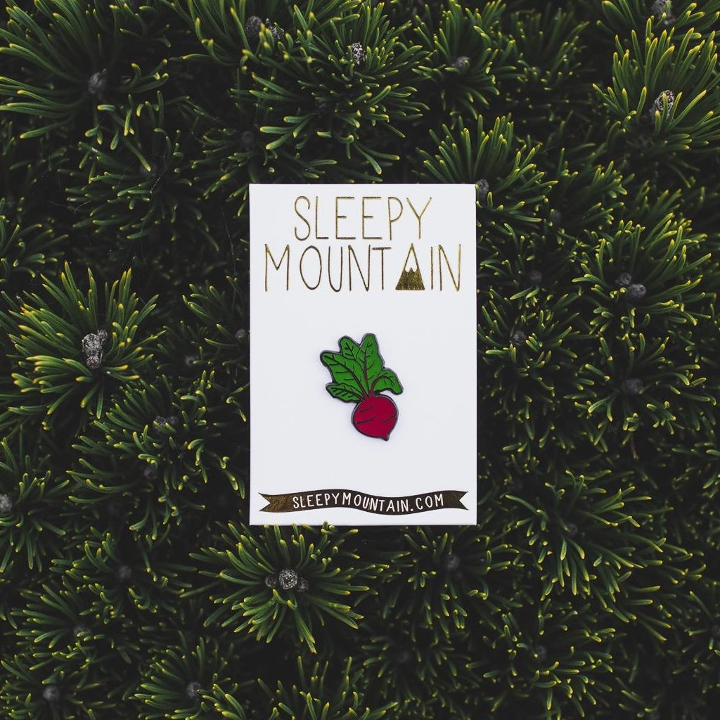 Beet Enamel Pin - SleepyMountain