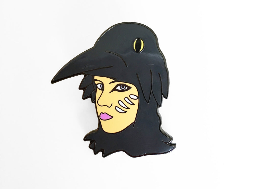 Suzy Bishop Enamel Pin - I'm A Raven - SleepyMountain