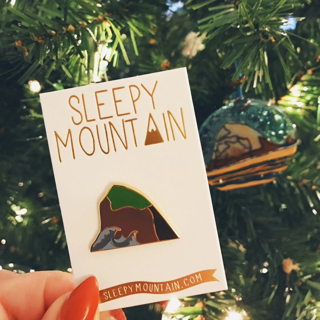 SALE - Sea Rock Enamel Pin - SleepyMountain