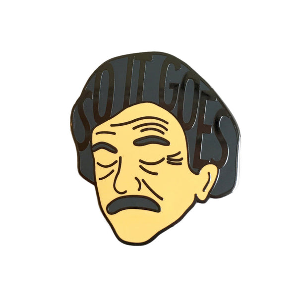 Kurt Vonnegut So It Goes Enamel Pin - SleepyMountain