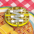Waffles Friends Work Enamel Pin - SleepyMountain