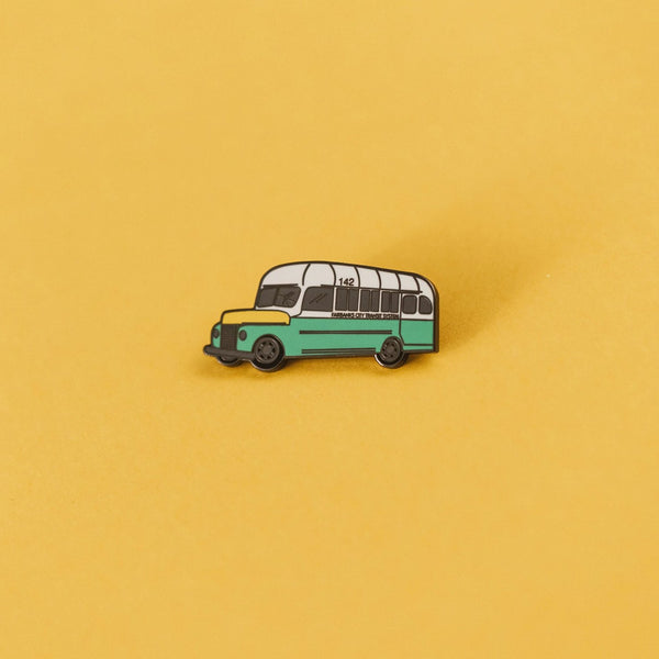 Into the Wild Bus 142 Enamel Pin - SleepyMountain