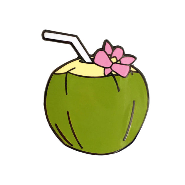 Coconut Enamel Pin