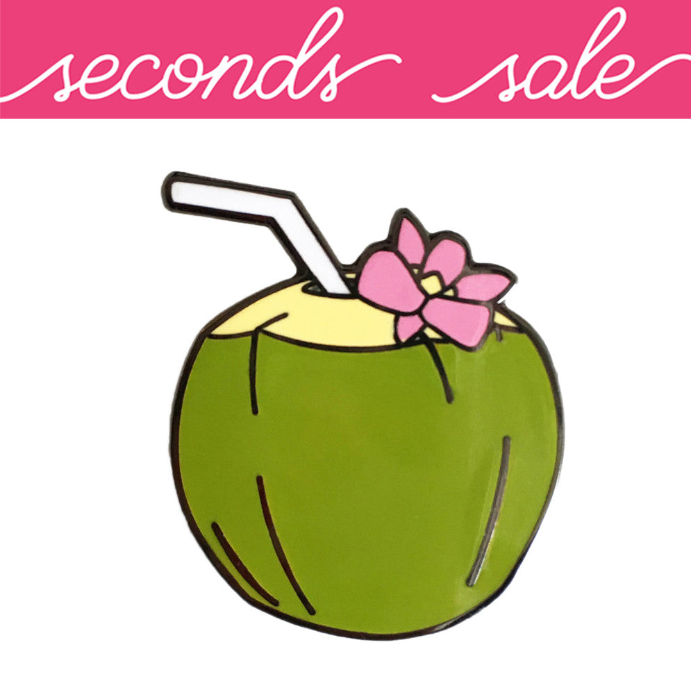 SECONDS SALE - Coconut Enamel Pin