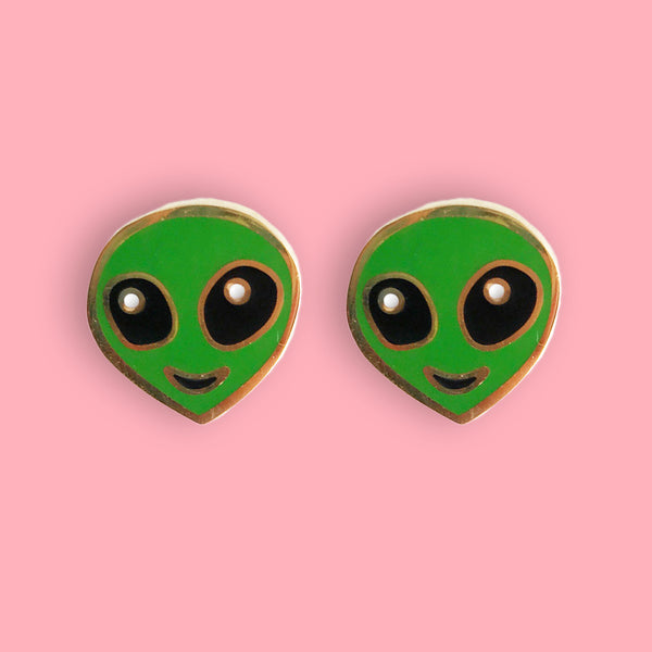 Alien Enamel Earrings