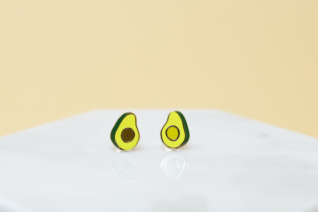 Avocado Earrings - Gold Plated - SleepyMountain