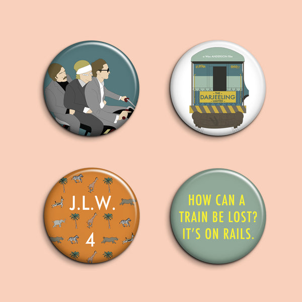 Set of 4 Darjeeling Limited Buttons