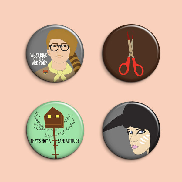Set of 4 Moonrise Kingdom Buttons