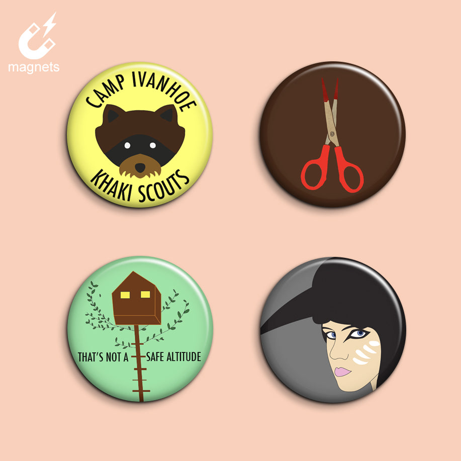 Set of 4 Moonrise Kingdom Magnets - SleepyMountain