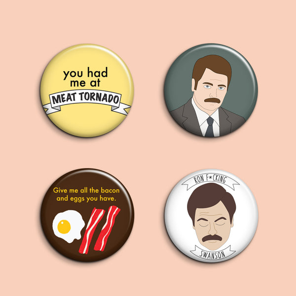 Ron Swanson Buttons