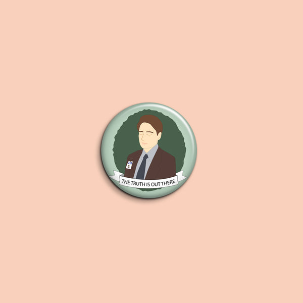 Fox Mulder Button - SleepyMountain