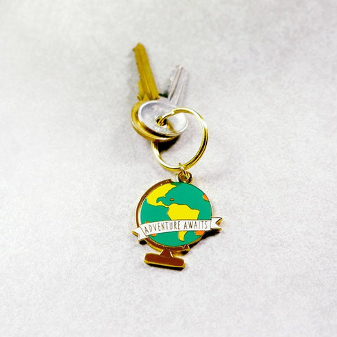 Adventure Awaits Globe Keychain - SleepyMountain