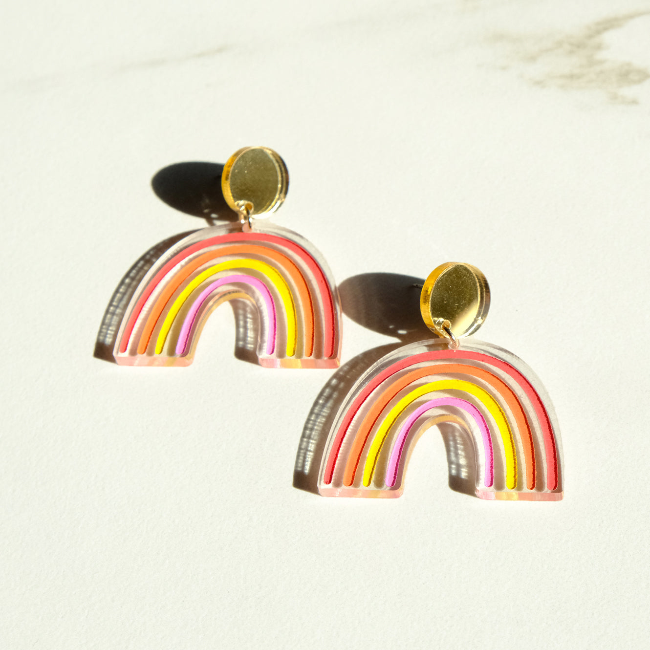 Sunset Rainbow Earrings - Dangles - SleepyMountain