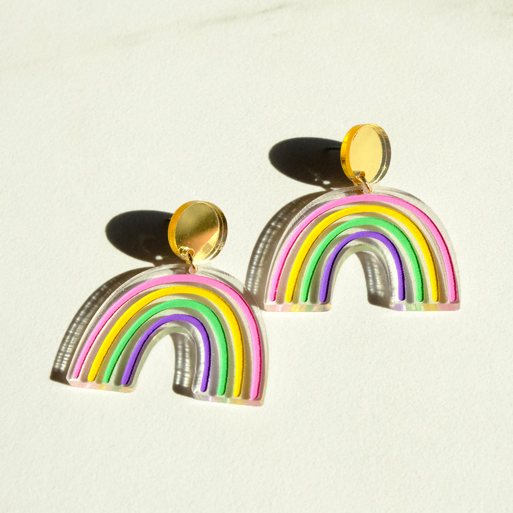 Rainbow Earrings - Dangles - SleepyMountain