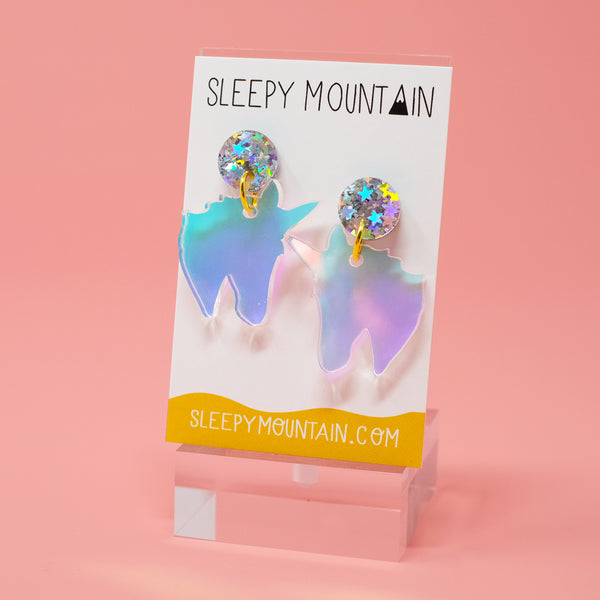 Iridescent Unicorn Dangle Earrings *Limited Edition* - SleepyMountain