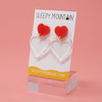 Double Heart Earrings - SleepyMountain