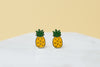 Pineapple Earrings - Gold Plated - SleepyMountain