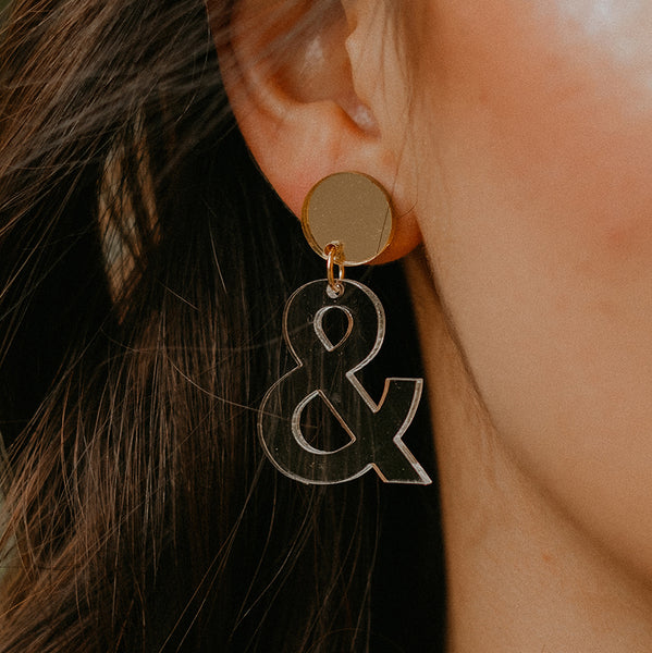 Ampersand Earrings - SleepyMountain