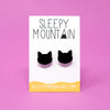 Black Cat Silhouette Earrings - SleepyMountain