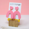 Heart Arches - Pink Acrylic - SleepyMountain