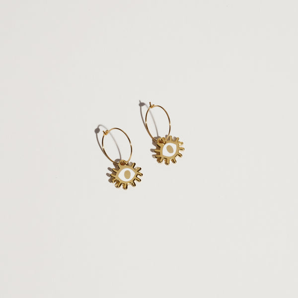 Eye Hoop Earrings - SleepyMountain