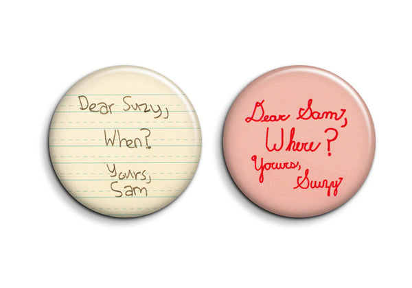 Dear Suzy & Dear Sam Moonrise Kingdom Buttons