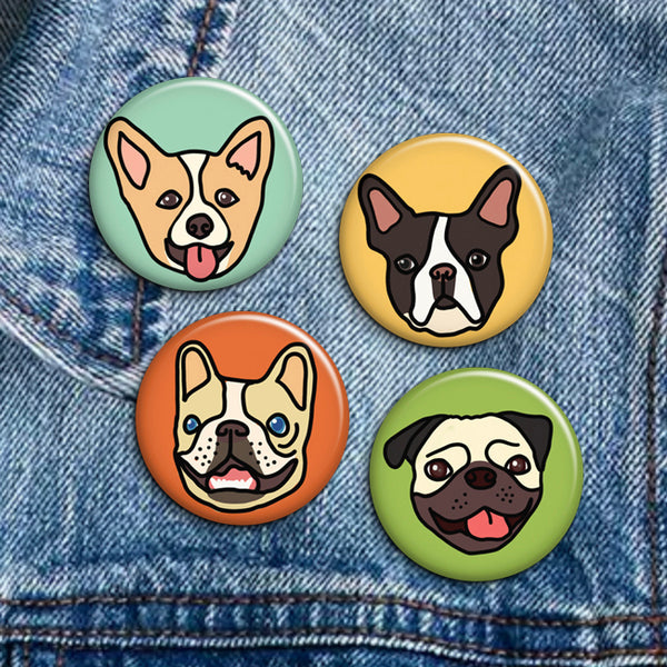 Dog Buttons - Set of 4 - SleepyMountain