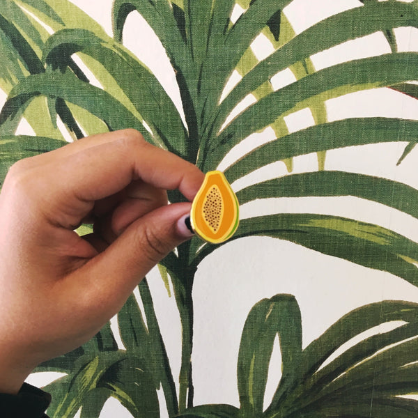 Papaya Enamel Pin - SleepyMountain