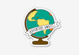 Adventure Globe Sticker - SleepyMountain