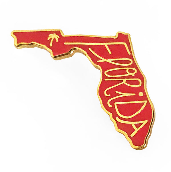Florida Enamel Pin - SleepyMountain