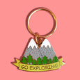 Go Exploring Mountains Keychain - SleepyMountain