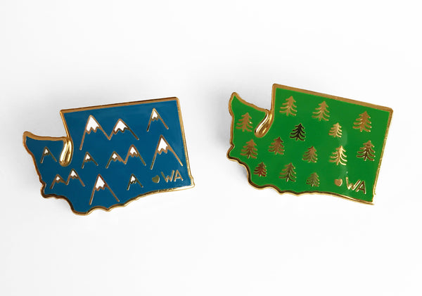 Washington Trees Enamel Pin