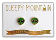 SALE - Alien Earrings - 22k Gold Plated - SleepyMountain