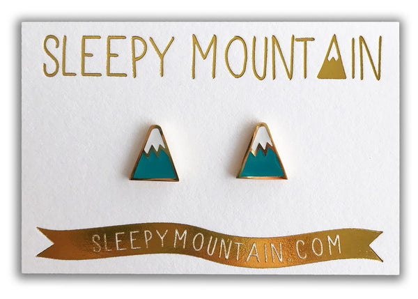 Mountain Earrings - 22k Gold Plated - SleepyMountain