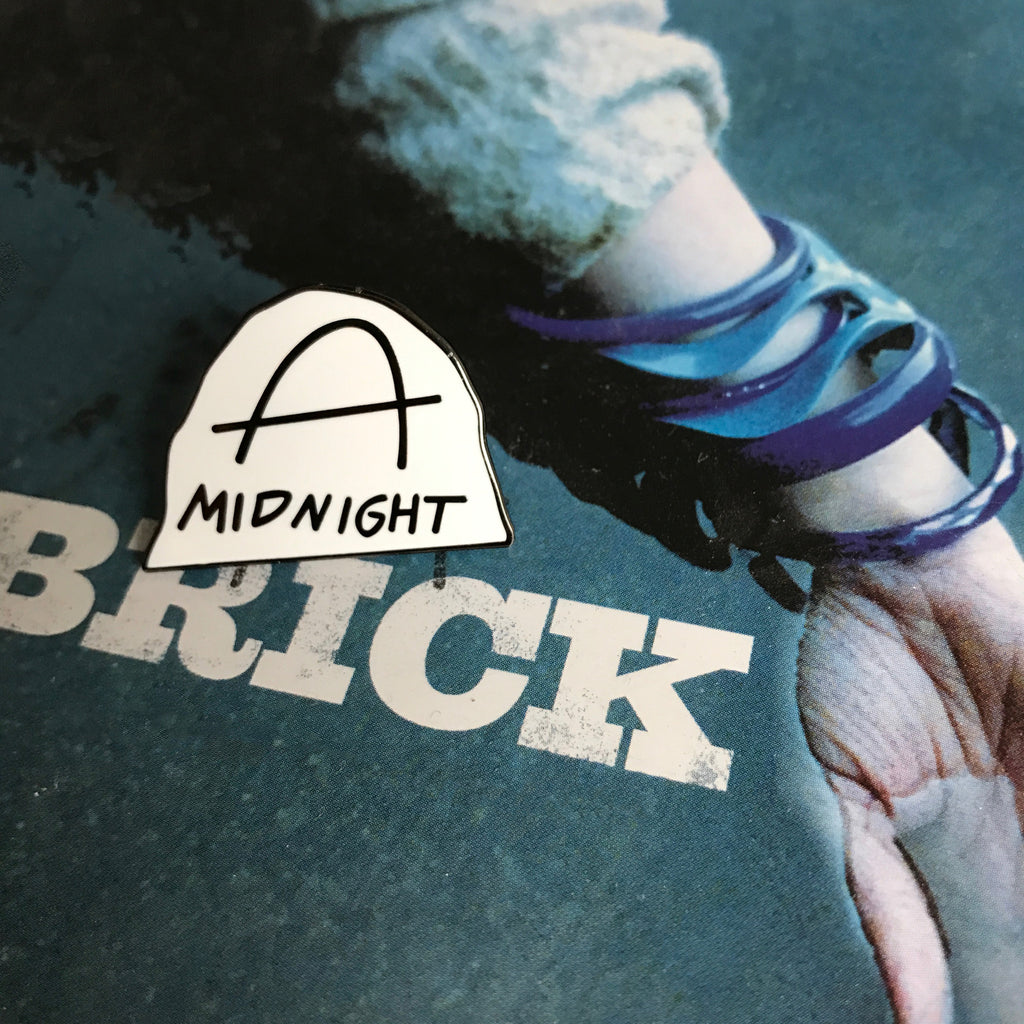 Brick Midnight Enamel Pin - SleepyMountain